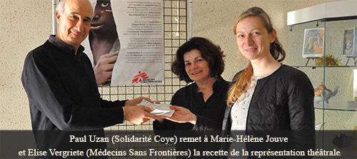 Pour Médecins Sans Frontières, le Théâtre de l'Alambic