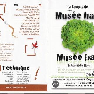 """""""Musée haut, Musée bas"""",  le 20 et 21 mars  à Coye-la-forêt"""