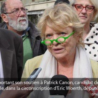 Eva Joly chahutée à Chantilly par des partisans d'Eric Woerth
