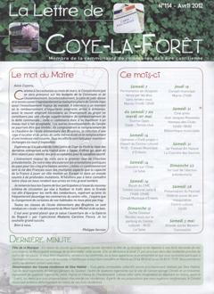 Le mot de notre association que vous ne verrez pas dans la Lettre de Coye-la-Forêt de décembre