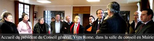 Visite officielle du Président du Conseil général à Coye-la-Forêt