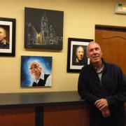 Paul Audibert expose à la bibliothèque
